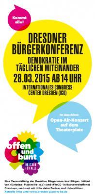 Foto zu Meldung: Dresdner Bürgerkonferenz am 28.03.2015