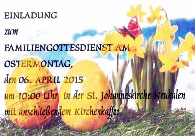 Foto zur Meldung: Einladung: Familiengottesdienst
