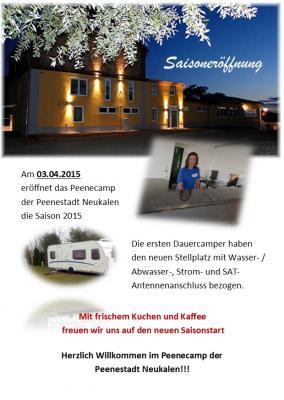 Foto zur Meldung: Herzlich Willkommen im Peenecamp der  Peenestadt Neukalen!!!