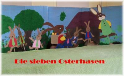 """Foto zur Meldung: Puppenspiel zum Osterfest - """" Die sieben Osterhasen """""""