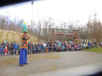 Foto zur Meldung: Eröffnung des Abenteuerspielplatzes