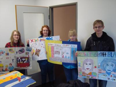 """Foto zur Meldung: """"bunt statt blau"""" – Teilnahme am Plakatprojekt der DAK"""