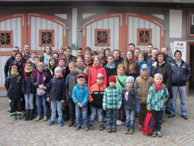 Foto zur Meldung: Frühjahrsausflug der Kinder- und Jugendfeuerwehr der Stadt Falkenstein