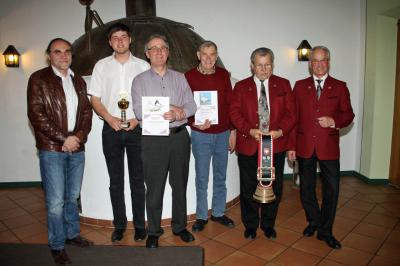 Veriensmeister 2014 mit 1.Bgm. Rolf Peter Holzleitner und 1. Vors. Herbert Müller