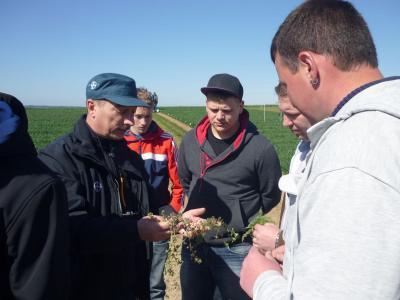 Foto zur Meldung: Fachexkursion zum Bundessortenamt in Augustenfelde der Landwirte im 3. Lehrjahr