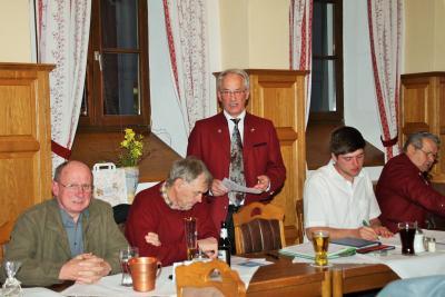 1.Vorstand Herbert Müller leitete die Jahreshauptversammlung