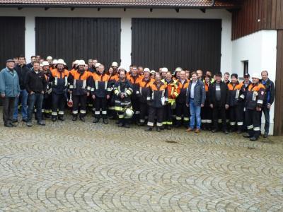 Foto zur Meldung: Traditionelle Gemeinschaftsübung der vier Feuerwehren der Gemeinde am 1. Mai 15