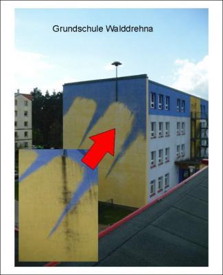 Vorschaubild zur Meldung: Kalenderrückblick: vor 3 JAHREN: Giebel der Grundschule gereinigt
