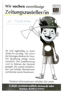 Foto zur Meldung: Zeitungszusteller/in
