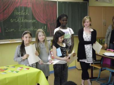 Foto zur Meldung: Unsere besten Vorleser im diesjährigen Lesewettbewerb