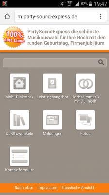 Vorschaubild zur Meldung: Mobile Webseite ab heute Online