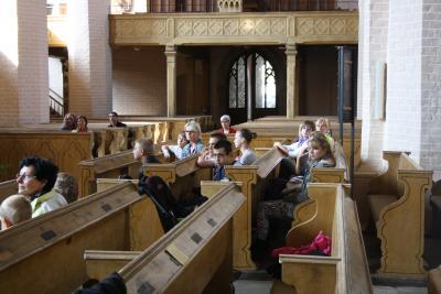 Foto zur Meldung: Besuch in der St.Marienkirche in Herzberg