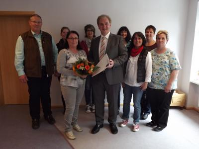 Foto zu Meldung: 25. Dienstjubiläum in der Kindertagesstätte Kisselbach