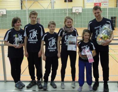 Sieger in der diesjährigen Familienwertung mit über 105 000 m - Familie Haaser aus Weigersdorf (LSV Niesky)