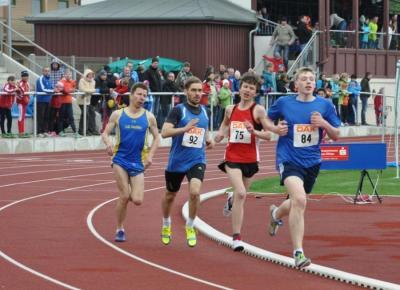 800m-Lauf mit Conrad Kriebisch (rechts-84)