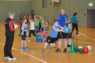 Foto zu Meldung: Schüler-Osterwerfer-MK in der Übungsstunde