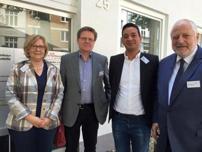 v.l.n.r. Gaby-Niemann-Cremer, Wolfgang Stadler, Özgür Kalkan, Karl Schultheis