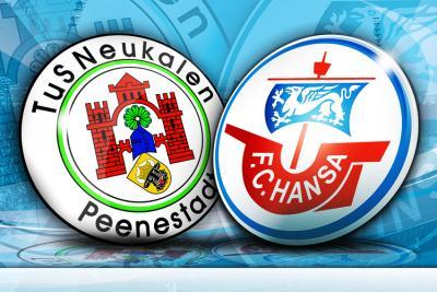 Foto zur Meldung: TuS Neukalen gegen FC Hansa Rostock