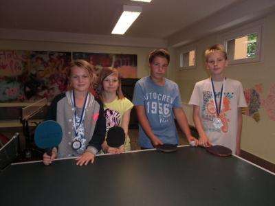 Foto zur Meldung: Bronze und Silber bei den 22. Kreis-,  Kinder- und Jugendspielen im Tischtennis am 6.6.2015
