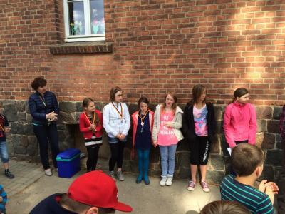 Foto zur Meldung: Auswertung des Sportfestes der Grundschule 2015