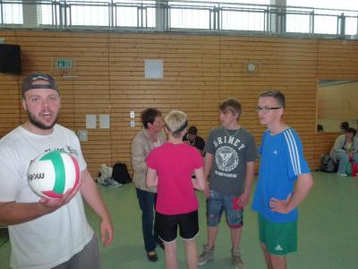 Foto zur Meldung: Volleyballturnier des 1. Lehrjahrs der Abt. 1