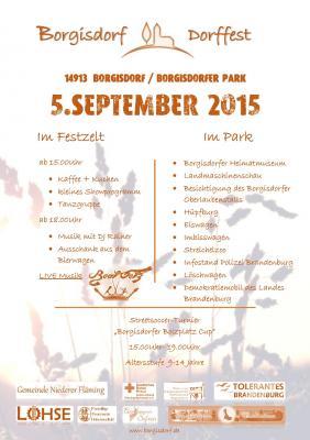 Foto zu Meldung: Dorffest im Borgisdorfer Park