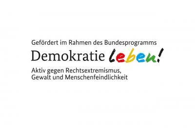 "Logo des Aktionsfonds ""Demokratie leben!"""