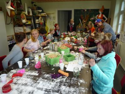 Foto zur Meldung: Frühlingsfest in der Jugendwerkstatt