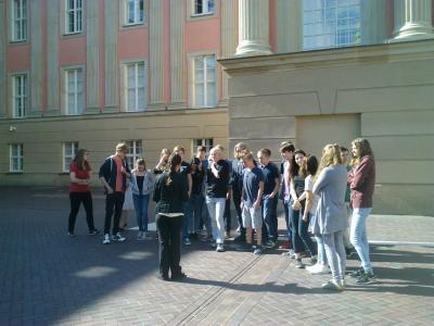 Foto zur Meldung: Besuch des Landtags Brandenburg (2015)