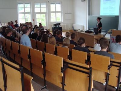 Foto zur Meldung: IGS-Projekttag an der Stralsunder Fachhochschule