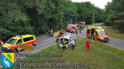 Vorschaubild zur Meldung: Einsatz 57/2015 Verkehrsunfall 2x PKW Köpenicker Chaussee