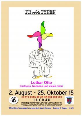 Ausstellungsplakat -Motiv von Lothar Otto