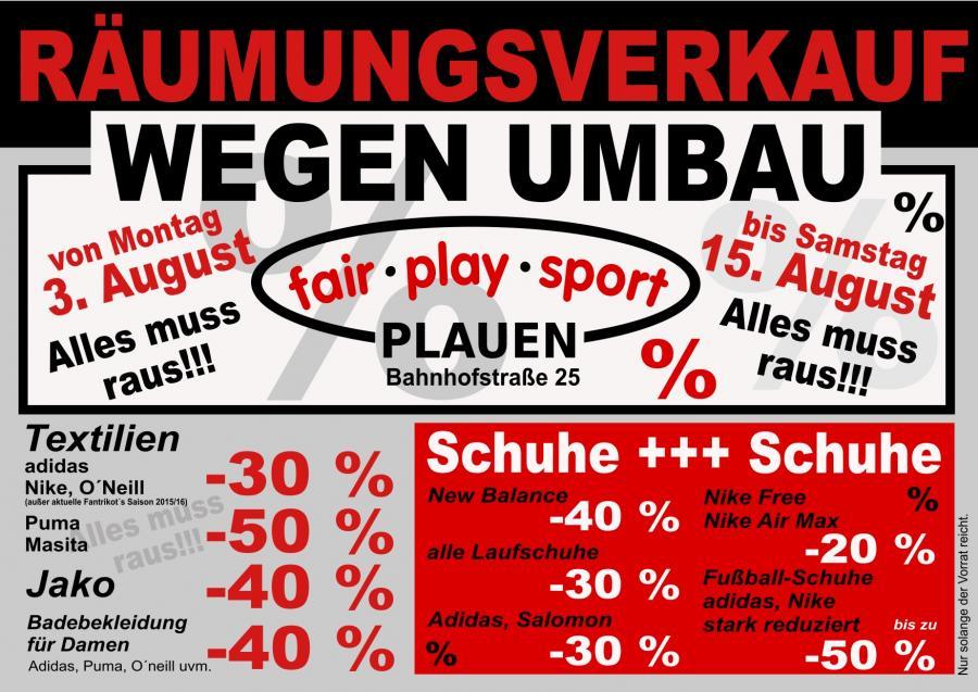 Play Schnäppchen beim Sport Fair HC Plauen Einheit 7vgybfY6
