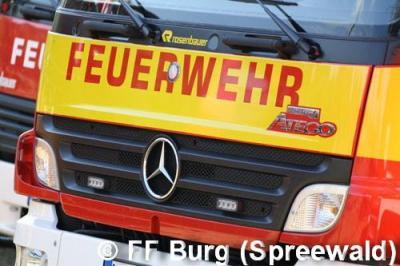 Vorschaubild zur Meldung: Einsatz Nr. 129/2015 - Brand in Burg (Spreewald)