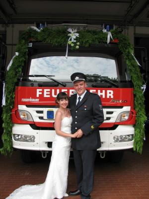 Foto zur Meldung: Feuerwehr - Hochzeit
