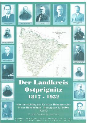 Foto zur Meldung: Eine Ausstellung des Landkreises Ostprignitz 1817 - 1952
