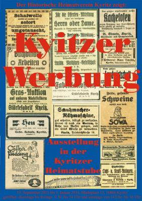 Vorschaubild zur Meldung: Ausstellung zur Kyritzer Werbung