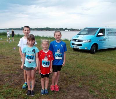 Foto zu Meldung: Aquakid beim 23. EURAWASSER Fun-Triathlon mit SCL Kindern