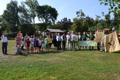 Foto zu Meldung: Am 08. und 09. August wurde bei wunderbarem Wetter und mit viel guter Laune der 666. Geburtstag und das 10. Besenbinderfest in Hainrode gefeiert.