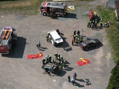 Foto zur Meldung: Tag der offenen Tür bei der Feuerwehr Roßla