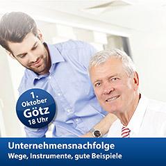 """Foto zur Meldung: """"Unternehmensnachfolge: Wege, Instrumente, gute Beispiele"""" - Treffpunkt Wirtschaft am 1. Oktober 2015 in Götz"""