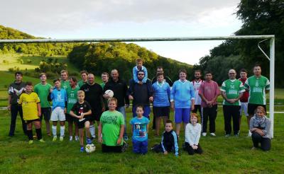 Foto zur Meldung: Fußball im Handball-Dorf