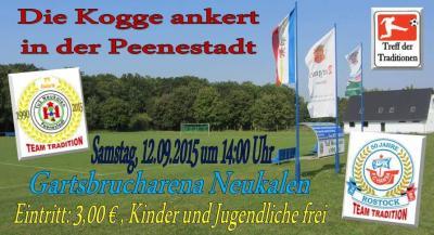 Foto zur Meldung: DIE KOGGE ANKERT IN DER PEENESTADT