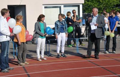 Eröffnung: Armin Christgen (Vizepräsident des Oberlausitzer Sportbund) begrüßt die Teilnehmer und Ehrengäste