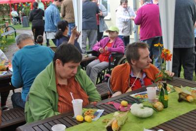Vorschaubild zur Meldung: Herbstfest in der AWO Heilpädagogischen Wohnstätte in Perleberg