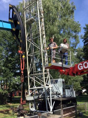 Foto zur Meldung: Zweite Konservierungskampagne an Außenexponaten