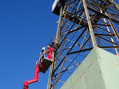 Foto zur Meldung: Technische Revision des großen Bohrturms