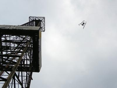 Foto zur Meldung: Großer Bohrturm dreidimensional gescant