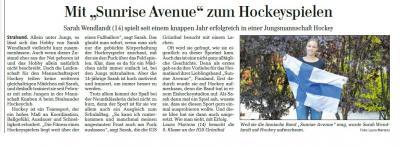 """Foto zur Meldung: Mit """"Sunrice Avenue"""" zum Hockeyspielen"""
