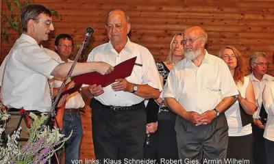Foto zur Meldung: Waldfesthalle - Konzert und Ehrungen